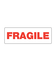 Polypropylene Fragile Labels 150x50mm