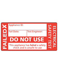 Failed Do Not Use PAT Test Label 50x25mm