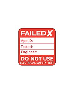 Plug Top PAT Test Failed Labels 25x25mm