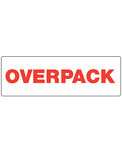 Red Overpack Labels 150x50mm