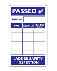 Ladder Safety Inspection Label 50x80mm