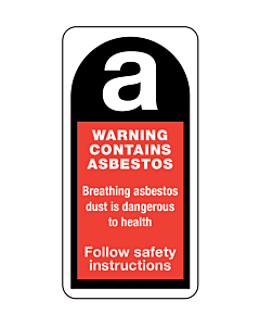Warning Contains Asbestos Labels 25x50mm