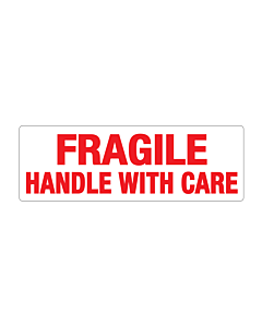 Paper Fragile Handle with Care Labels 150x50mm