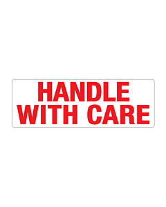 Paper Handle with Care Labels 150x50mm