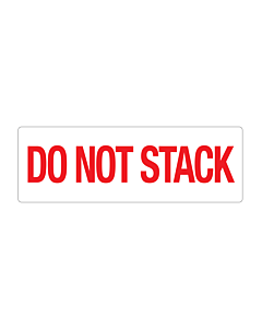 Paper Do Not Stack Labels 150x50mm