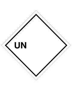 Blank UN Labels 100x100mm (250 Labels)
