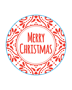 Merry Christmas Stickers 50mm