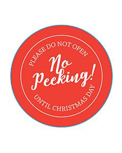 No Peeking Stickers 50mm