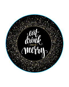 Eat, Drink & Be Merry Stickers 50mm