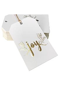 Joy Christmas Gift Tags 55x90mm