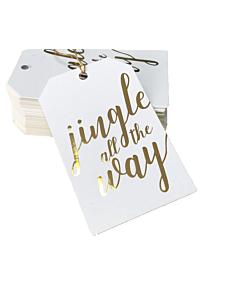 Jingle All The Way Christmas Gift Tags 55x90mm