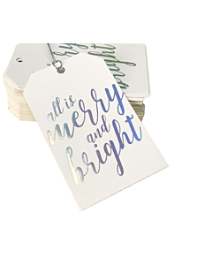 All is Merry & Bright Gift Tags 55x90mm