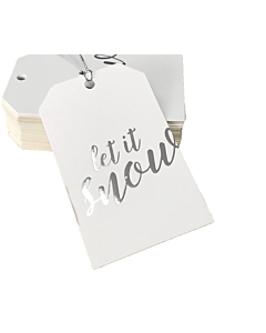 Let it Snow Gift Tags 55x90mm