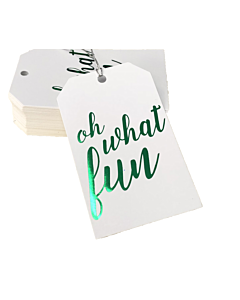 Oh What Fun Gift Tags 55x90mm