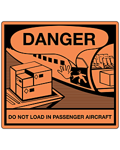 Cargo Aircraft Only Labels 120x110mm