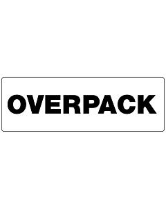 Black Overpack Labels 150x50mm