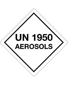 UN 1950 Aerosols Labels 100x100mm