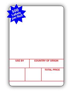 Avery Berkel Scale Labels Format 1 50x73mm (10 Rolls / 5,000 Labels)