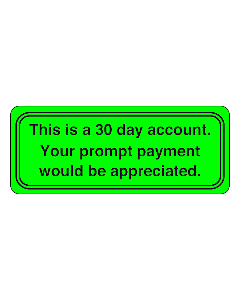 30 day Account Stickers 50x20mm