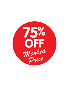 75% Off Marked Price Stickers