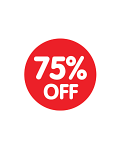 Red 75% Off Stickers