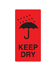 Keep Dry Labels 75x150mm