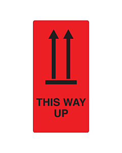 This Way Up Labels 75x150mm