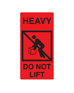 Heavy Do Not Lift Labels 75x150mm