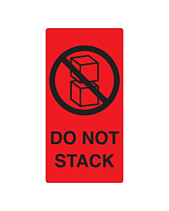 Do Not Stack Labels 75x150mm