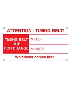 Timing Belt Change Labels 63x33mm