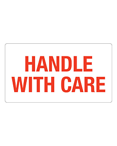 Handle With Care Labels 127x70mm