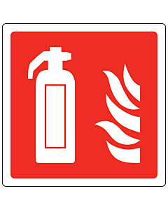 Fire Extinguisher Point Labels 100x100mm