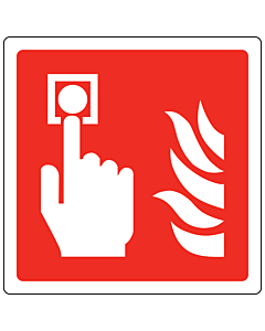 Fire Alarm Call Point Labels 100x100mm