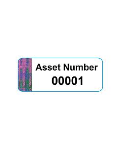 Tamper Evident Asset Labels 38x15mm