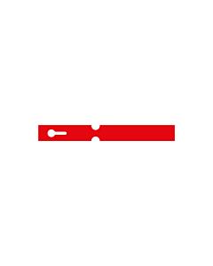 180x20mm Red Self-Tie Loop Lock Labels