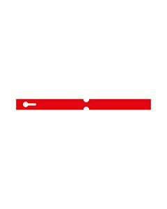 250x20mm Red Self-Tie Loop Lock Labels