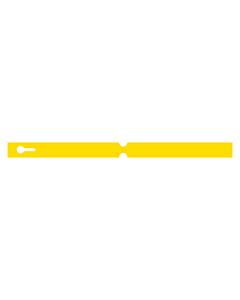 300x20mm Yellow Self-Tie Loop Lock Labels
