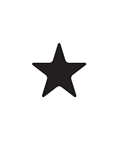 Black Star Shaped Stickers 20mm