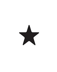 Black Star Shaped Stickers 10mm