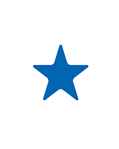 Blue Star Shaped Stickers 20mm