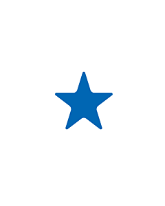 Blue Star Shaped Stickers 10mm