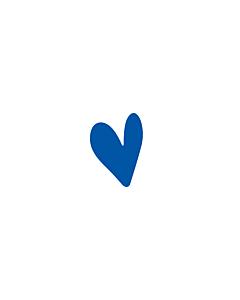 Navy Blue Heart Stickers 5x7mm