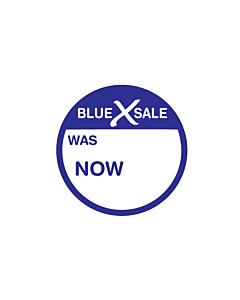Blue X Sale Was / Now Stickers