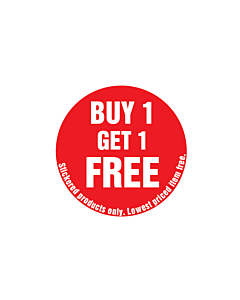 Buy One Get One Free Stickered Products Only Stickers