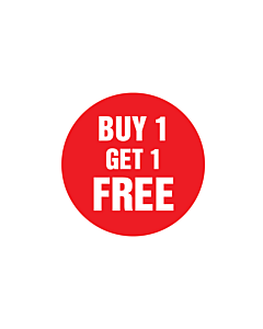 Buy One Get One Free Stickers