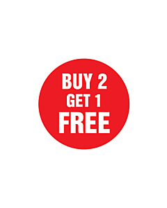 Buy 2 Get 1 Free Stickers