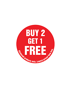 Buy 2 Get 1 Free Stickered Product Only Stickers