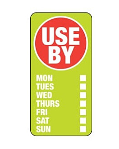 Use By Labels 25x50mm