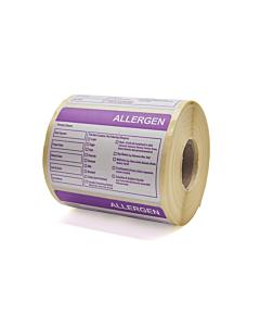 Combined Food Prep / Allergen Labels 76x51mm