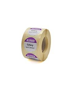 Allergen Celery Labels 25mm Permanent